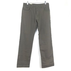 PrAna Axiom Men's Jeans Olive Brown Sz 30 X 34 NEW